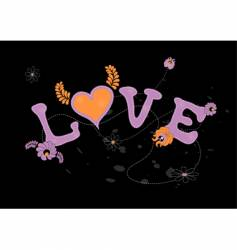 love with flowers vector image