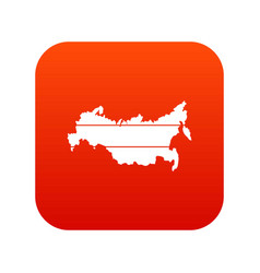 map of russia icon digital red vector image