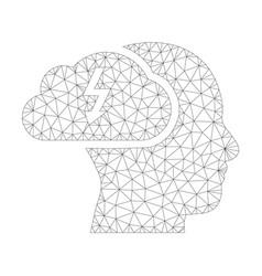 mesh brainstorming icon vector image