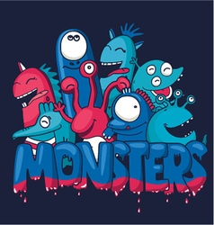 Monsters vector