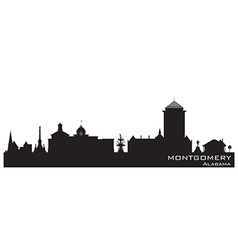 Montgomery Alabama skyline Detailed silhouette vector image