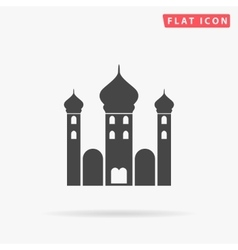 Mosque simple flat icon vector image