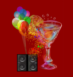 Musical party background vector