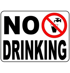 Not drinking water sign- Non-potable water vector