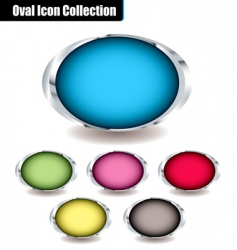 Oval collection vector