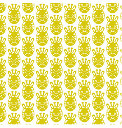 pattern background giraffe face emotion icon vector image
