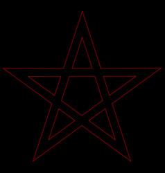 pentagram blood red runic spell circle satanic vector image