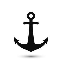 PrintSimple anchor silhouette vector image