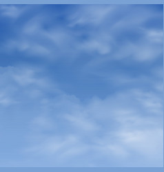 realistic clouds on blue sky background vector image