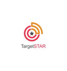 rund target star logo vector image