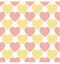 seamless geometric pattern with striped vector image