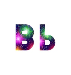 Set of letters firework B vector image