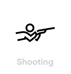 shooting sport icons vector image