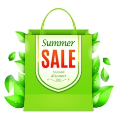 Summer Sale Shopping Bag vector image