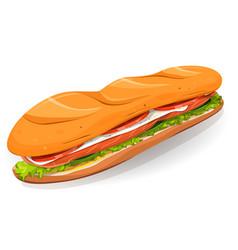 swedish sandwich with salmon fish fresh cheese vector image