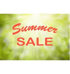 Text summer sale sunny green nature vector