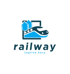 train railway logo design inspiration vector image