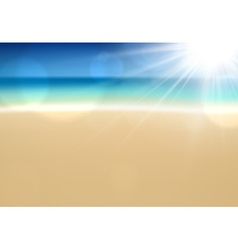 Tropical sunny summer coast vector image