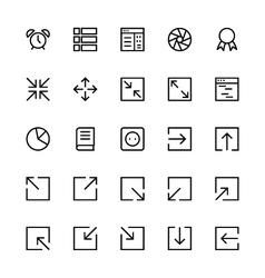 User interface colored line icons 16 vector