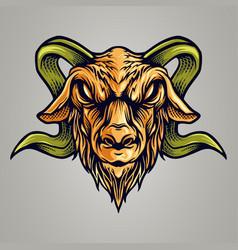 vintage goat esport logo mascot vector image