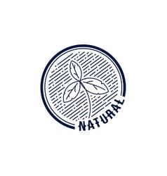 Vintage monoline logo template 08 vector
