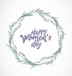 Women s day typographical design element vector
