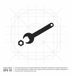 Wrench and bolt icon vector