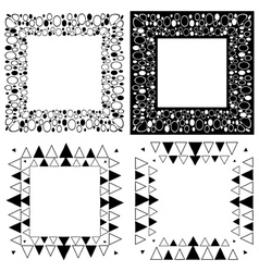 Zen tangle frames vector