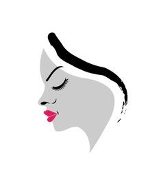 Beautiful lady vector image vector image