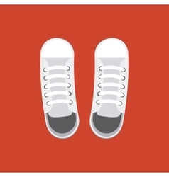 pair of white shoes vector image