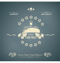 Premium Quality and Satisfaction Guarantee Label vector image vector image