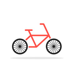 red simple bicycle emblem vector image