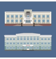 Set of two of vintage house vector image vector image
