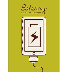 battery power vector image