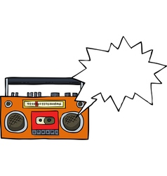 cassette player vector image vector image