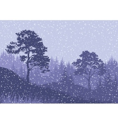 Christmas Winter Mountain Landscape vector image vector image
