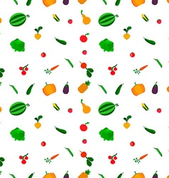 fruits and vegetables seamless pattern vector image