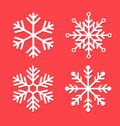 snowflakes set for element christmas and new year vector image