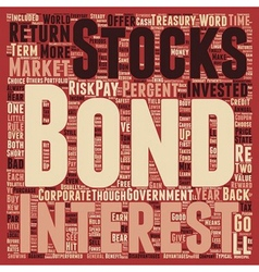 The Bond Market And How You Can Benefit text vector image