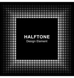 White Abstract Halftone Square Frame Background vector image