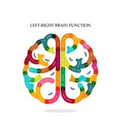 Creative infographics brain function vector image