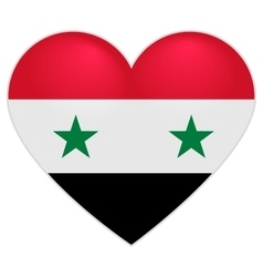 Syria Flag Heart Syrian flag icon in shape of vector image vector image