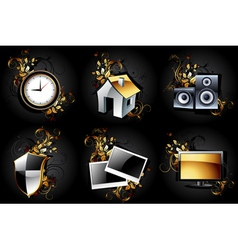 web icons high detailed set vector image