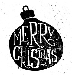 Christmas greeting card Handmade Hand lettering vector image vector image