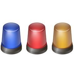 flashing lights set vector image vector image