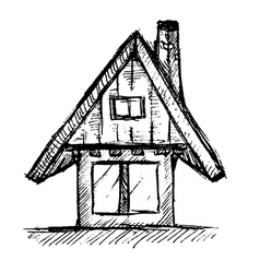 House Hand Drawn vector image