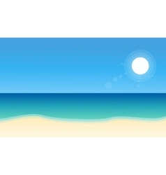 Landscape of beach collection stock vector