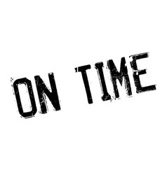 on time rubber stamp vector image
