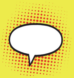speech bubble in pop art comics style retro vector image