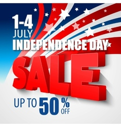 4th july sale background vector